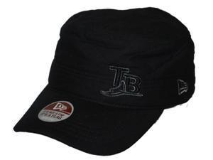 Tampa Bay Rays New Era Boot Camp Black Hat Cap (S)