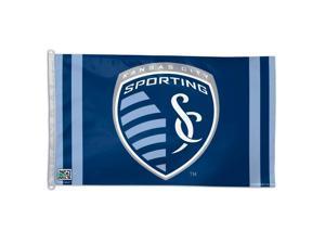Sporting Kansas City KC MLS WinCraft Blue Grey Deluxe Flag (3' x 5')