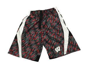 Wisconsin Badgers Colosseum Red Gray & Black Patterened Athletic Shorts (L)