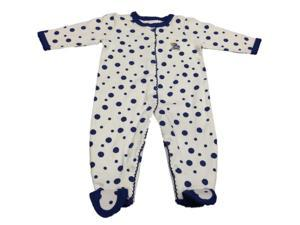 Kansas Jayhawks Two Feet Ahead Baby Infant Full Button Up One Piece Pajamas (NB)