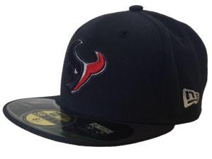 Houston Texans New Era On Field 59Fifty Flatbill Youth Fitted Hat Cap (6 1/2)