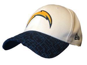 San Diego Chargers New Era 39Thirty Structured Flexfit White Blue Hat Cap (M/L)