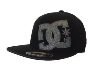 DC Shoes Flexfit Flatbill Cotton Black Green logo Fitted Hat Cap (L/XL)