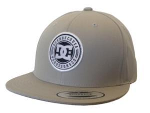 DC Shoes Yupoong Flatbill Cotton Polyester Snapback Gray Hat Cap