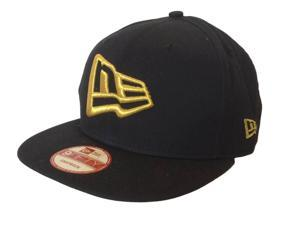 New Era 9Fifty Flatbill Snapback Navy Gold NE Logo Acrylic Adjustable Hat Cap