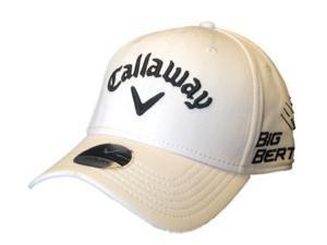 Callaway Golf Flexfit Structured White High Crown 100% Polyester Hat Cap (L/XL)