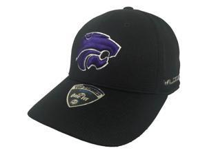 Kansas State Wildcats TOW Black Ironside Performance Memory Flexfit Hat Cap