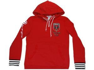 D.C. United Adidas Red Football Club Zip Collar Hoodie Pullover Jacket (S)