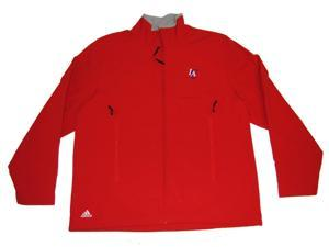Los Angeles Clippers Adidas Men's Red Full-Zip Fleece Sweatshirt (L)