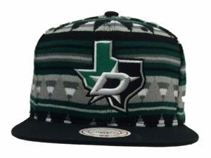 Dallas Stars Adidas Mitchell & Ness Wool Structured Snapback Flat Bill Hat Cap