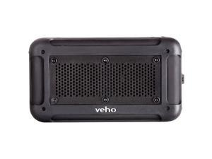 Veho VXS-001-BLK Vecto Rugged/Water-Resistant IP64 Portable Bluetooth Speaker with Integrated 6000mAh Powerbank, 16 Hours Playtime, NFC, Line In, MicroSD Card Support