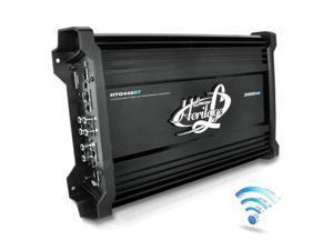 Lanzar HTG448BT 2000 Watt 4 Channel Mosfet Amplifier with Wireless Bluetooth Audio Interface