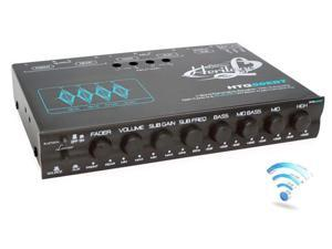 Lanzar HTG50EBT 4 Band Parametric Equalizer with Subwoofer Gain Control & Bluetooth Wireless Audio Connectivity