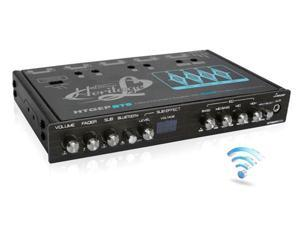 Lanzar HTGEPBT9 4 Band Parametric Equalizer with Bluetooth Wireless Audio Connectivity
