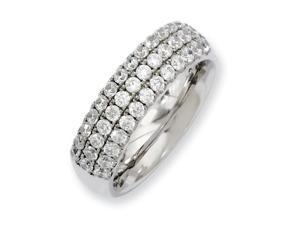 Titanium Multi-Row Cz Ring, Size 8