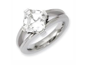 Titanium Cz Ring, Size 6