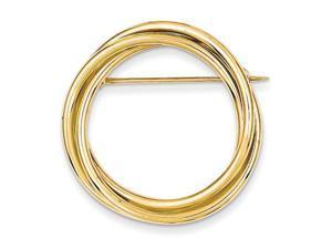 14k Circle Pin
