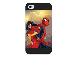 Onelee Customized Marvel Series Case for iPhone 4 4S, Marvel Comic Hero Daredevil iPhone 4 4S Case, Only Fit for Apple iPhone 4 4S (Black Frosted Case)
