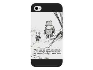 Onelee Customized Disney Series Phone Case for iPhone 4 4S, Winnie the Pooh iPhone 4 4S Case, Only Fit for Apple iPhone 4 4S (Black Frosted Shell)