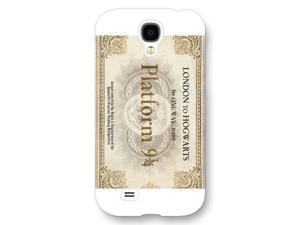 Onelee - Customized Personalized White Frosted Samsung Galaxy S4 Case, Harry Potter Samsung Galaxy S4 case, Harry Potter Hogwarts Marauders Map Samsung Galaxy S4 case, Only fit Samsung Galaxy S4