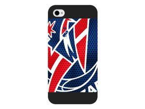 Onelee Customized NBA Series Case for iPhone 4 4S, NBA Team Atlanta Hawks Logo iPhone 4 4S Case, Only Fit for Apple iPhone 4 4S (Black Frosted Case)