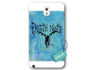 Galaxy Note 3 Case, Onelee [Scratch Resistant] Japanese Anime Series Death Note L Logo Galaxy Note 3 Case, Frosted  White Hard Case for Galaxy Note 3