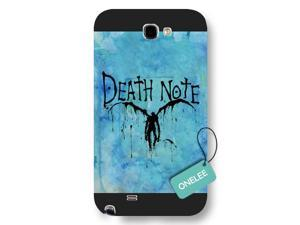 Galaxy Note 2 Case, Onelee [Scratch Resistant] Japanese Anime Series Death Note L Logo Galaxy Note 2 Case, Frosted  Black Hard Case for Galaxy Note 2
