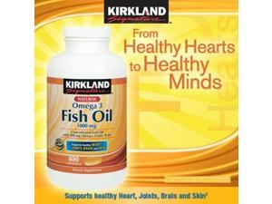 Kirkland Signature Omega-3 Fish Oil Concentrate, 400 Softgels, 1000 mg Fish Oil with 30% Omega-3s (300 mg)