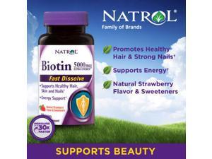 Natrol Biotin 5,000 mcg, 250 Fast Dissolve Tablets