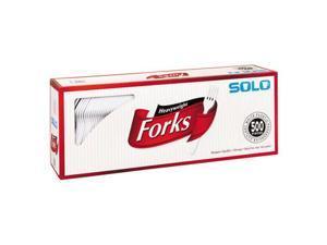 Solo Plastic Fork White 500ct