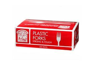 Bakers & Chefs Plastic Forks, White 600 ct.