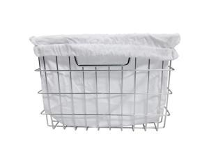 TRINITY EcoStorage Chrome Wire Basket with Cover