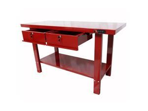 "Excel Red Steel Work Bench 59"" W x 25.2"" D x 34"" H"