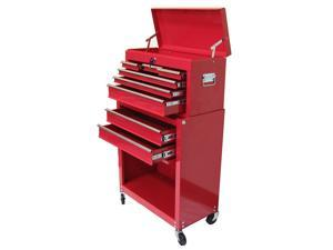 "Excel - Top Chest and Roller Cabinet Combination 24"" Colour Red"