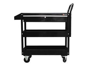 Excel - Steel Tool Cart with Rubber Work Surface Color Black