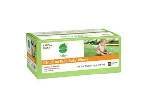 Seventh Generation Original Soft & Gentle Baby Wipes, 5 pk, Free & Clear 70 ea