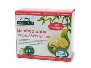 Aleva Naturals Bamboo Baby Wipes, Sensitive 216 ea