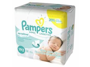 Pampers Stages Sensitive Wipes, Perfume Free, 3 Pack 192 ea