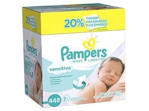 Pampers Sensitive Wipes Refill Packs, 7 pk 64 ea