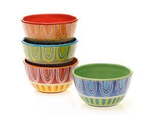 Tapas 6-inch Assorted Ice Cream Bowls Set of 4