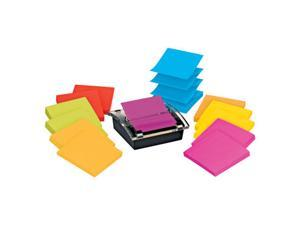 Post-it Super Sticky Notes with Designer Dispenser, 3 in. x 3 in., 12ct MMM DS330SSVA