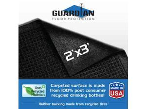 "Guardian EcoGuard Indoor Floor Mat 24"" x 36"" Charcoal MLL EG020304"