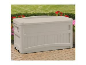 Suncast 73 Gallon Deck Box with Wheels and Seat