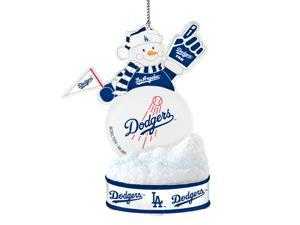 Los Angeles Dodgers LED Snowman Ornament