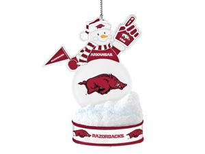 Arkansas Razorbacks LED Snowman Ornament
