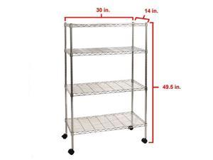 Seville Classics 4-Tier Shelving with Casters