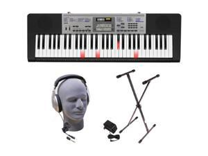 Casio LK-175 Lighted Key Premium Keyboard Pack with Headphones, Power Supply and Stand