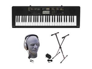 Casio CTK-2400 61-Key Premium Portable Keyboard Package with Samson HP30 Headphones, Stand and Power Supply