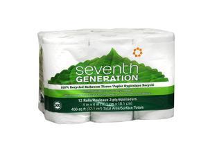 Seventh Generation Recycled Bath Tissue, Big Rolls, 12 pk 300 sh
