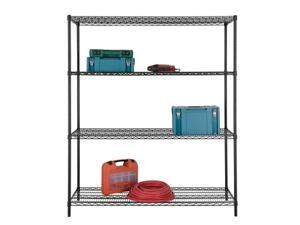 "Excel Heavy Duty 4-Tier Wire Shelving, 60""W x 24""D x 72""H"